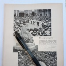 Coleccionismo: HOMENAJE A UN POETA. BARCELONA, DOS MOMENTOS DEL HOMENAJE A JACINTO VERDAGUER. 1931. Lote 194756267