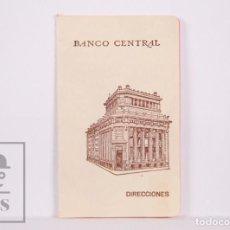 Coleccionismo: ANTIGUO DIRECTORIO / AGENDA DE TELÉFONOS DEL BANCO CENTRAL, BARCELONA - MEDIDAS 6 X 9,5 CM. Lote 194780238