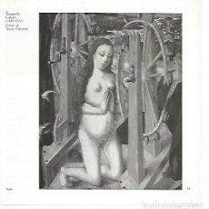 Coleccionismo: LAMINA 1689: FERNANDO GALEGO. SANTA CATALINA. Lote 194881960