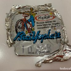 Coleccionismo: ANTIGUA TAPA DE YOGUR YOPLAIT, BICI YOPLAIT. Lote 194894378