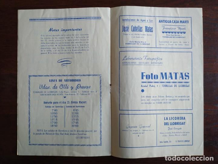 Coleccionismo: Festa Major Aplec de Sant Pau 1954 Ateneu Torrellenc Torrelles de Llobregat Orqu Planas de Martorell - Foto 4 - 194895146