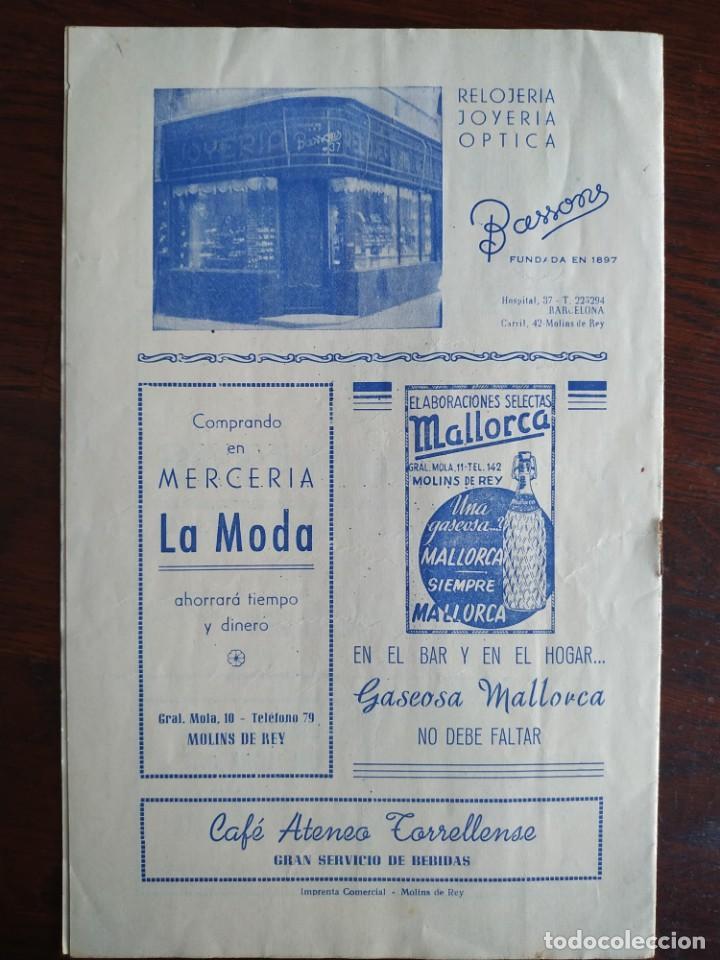 Coleccionismo: Festa Major Aplec de Sant Pau 1954 Ateneu Torrellenc Torrelles de Llobregat Orqu Planas de Martorell - Foto 5 - 194895146