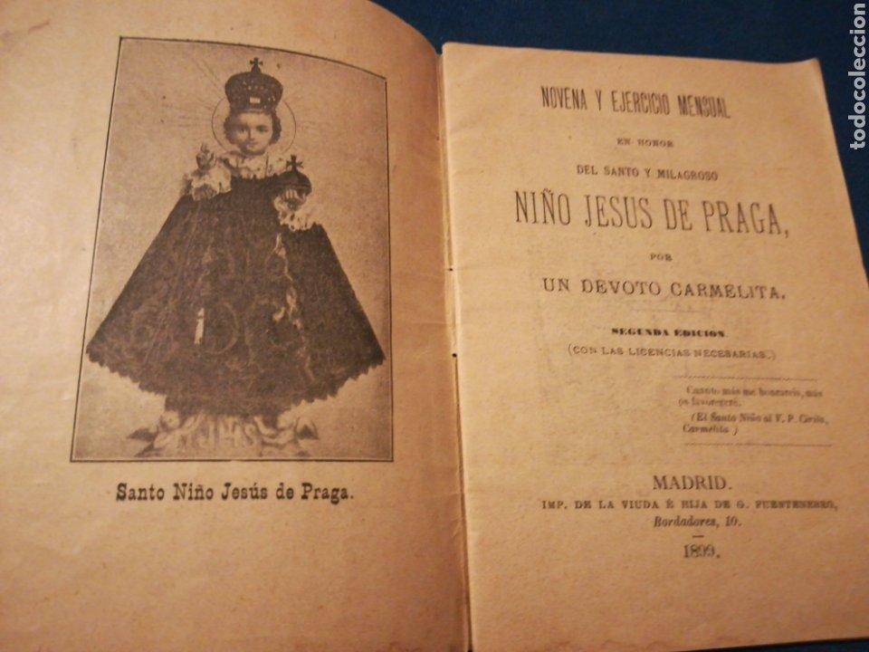 Coleccionismo: Novena y ejercicio mensual en honor del Santo y milagroso Niño Jesús de Praga 1899 - Foto 2 - 194895537
