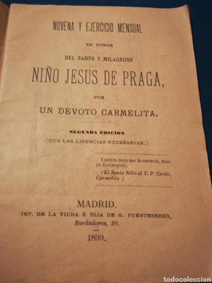 NOVENA Y EJERCICIO MENSUAL EN HONOR DEL SANTO Y MILAGROSO NIÑO JESÚS DE PRAGA 1899 (Coleccionismo - Laminas, Programas y Otros Documentos)
