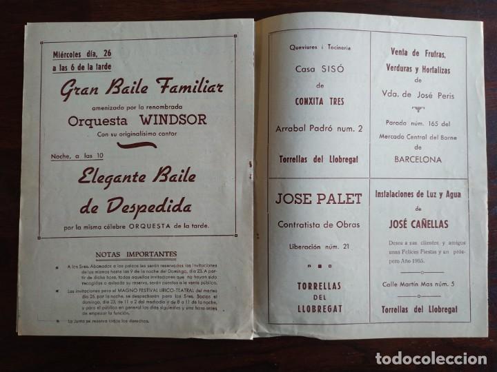 Coleccionismo: Festa Major Aplec de Sant Pau 1955 Ateneu Torrellenc, de Torrelles de Llobregat Con orquesta Orleans - Foto 3 - 194895860