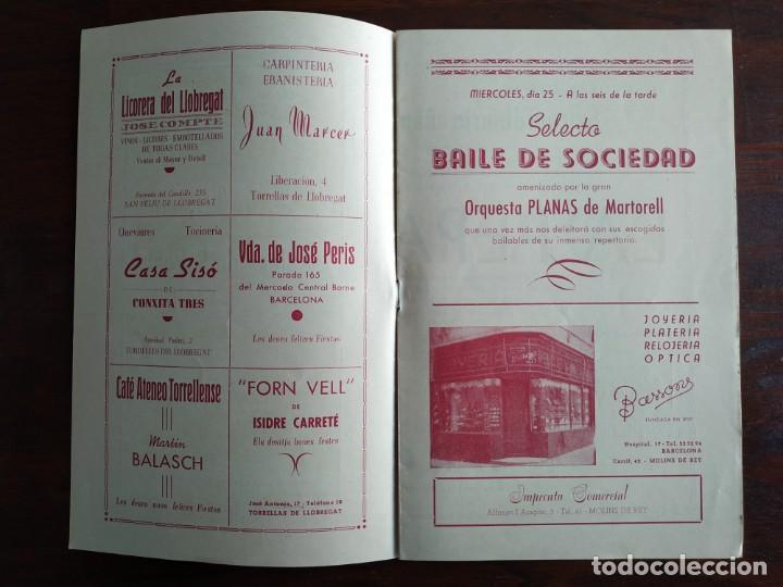 Coleccionismo: Festa Major Aplec de Sant Pau 1956 Ateneu Torrellenc, de Torrelles de Llobregat. La pepa Maca - Foto 2 - 194896575