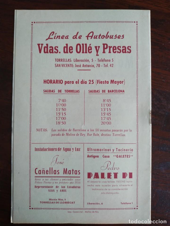 Coleccionismo: Festa Major Aplec de Sant Pau 1956 Ateneu Torrellenc, de Torrelles de Llobregat. La pepa Maca - Foto 5 - 194896575