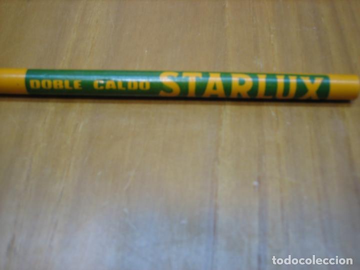 Coleccionismo: Antiguo lápiz con publicidad caldo starlux - Foto 2 - 194896802