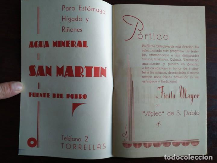 Coleccionismo: Festa Major Aplec de Sant Pau 1959 Ateneu Torrellenc Torrelles de Llobregat Amb l lira de San Celoni - Foto 2 - 194897513