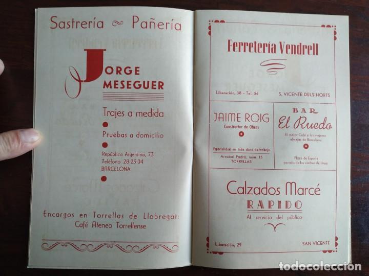 Coleccionismo: Festa Major Aplec de Sant Pau 1959 Ateneu Torrellenc Torrelles de Llobregat Amb l lira de San Celoni - Foto 5 - 194897513