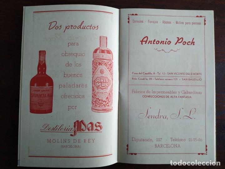 Coleccionismo: Festa Major Aplec de Sant Pau 1959 Ateneu Torrellenc Torrelles de Llobregat Amb l lira de San Celoni - Foto 6 - 194897513