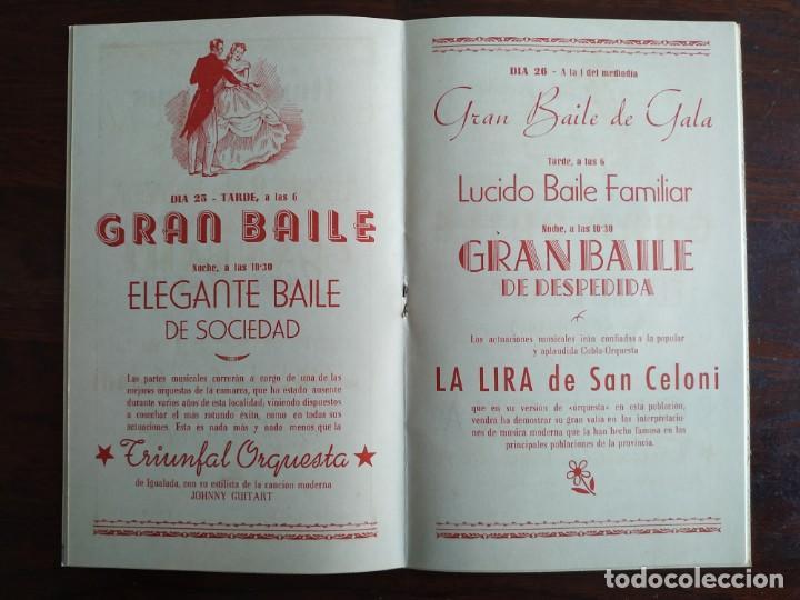 Coleccionismo: Festa Major Aplec de Sant Pau 1959 Ateneu Torrellenc Torrelles de Llobregat Amb l lira de San Celoni - Foto 8 - 194897513