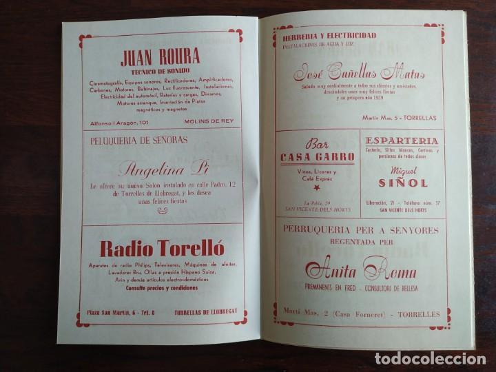 Coleccionismo: Festa Major Aplec de Sant Pau 1959 Ateneu Torrellenc Torrelles de Llobregat Amb l lira de San Celoni - Foto 11 - 194897513