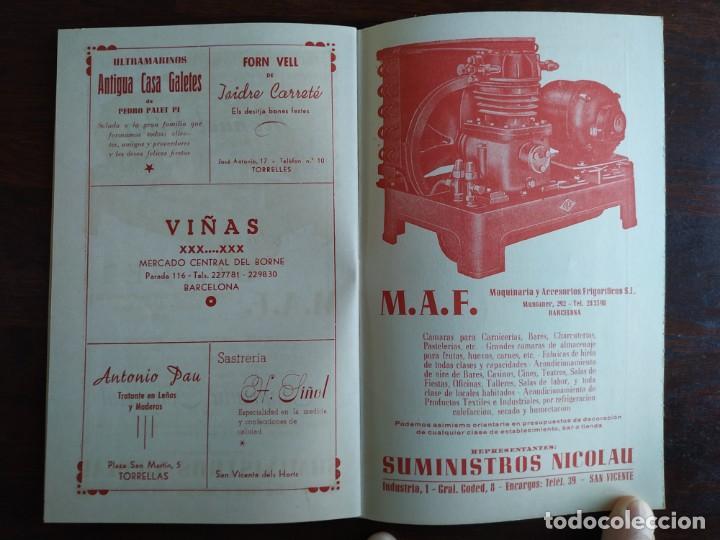 Coleccionismo: Festa Major Aplec de Sant Pau 1959 Ateneu Torrellenc Torrelles de Llobregat Amb l lira de San Celoni - Foto 13 - 194897513