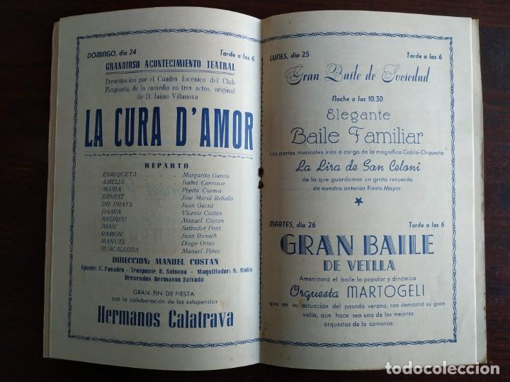 Coleccionismo: Festa Major Aplec de Sant Pau 1960 Ateneu Torrellenc de Torrelles de Llobregat orquestra Martogrell - Foto 7 - 194898328