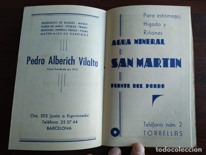 Coleccionismo: Festa Major Aplec de Sant Pau 1960 Ateneu Torrellenc de Torrelles de Llobregat orquestra Martogrell - Foto 9 - 194898328