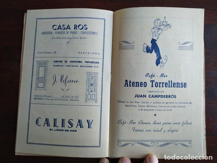 Coleccionismo: Festa Major Aplec de Sant Pau 1960 Ateneu Torrellenc de Torrelles de Llobregat orquestra Martogrell - Foto 10 - 194898328