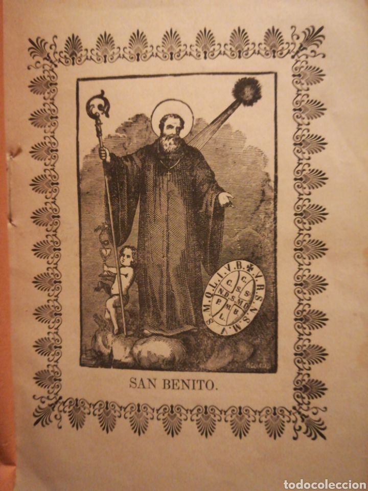 Coleccionismo: Novena del gran padre y Patriarca San Benito y su esclarecida hermana Santa Escolástica Toledo 1800 - Foto 2 - 194899237