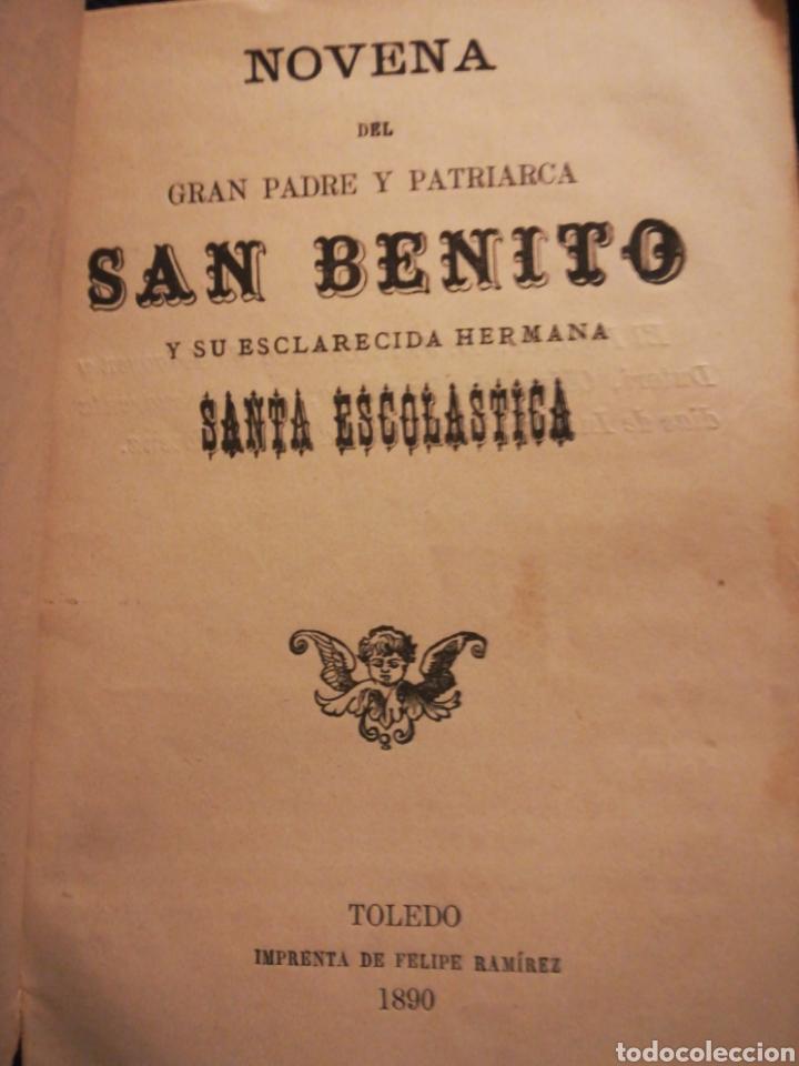 NOVENA DEL GRAN PADRE Y PATRIARCA SAN BENITO Y SU ESCLARECIDA HERMANA SANTA ESCOLÁSTICA TOLEDO 1800 (Coleccionismo - Laminas, Programas y Otros Documentos)