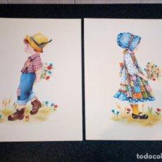 Coleccionismo: 61-2 LAMINAS INFANTILES SERIE EUROPA 13 Y 14, 1980, 40 X 30. Lote 194899760