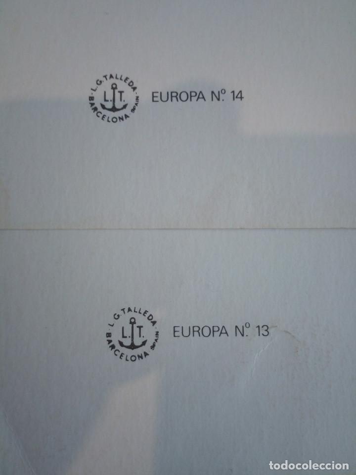 Coleccionismo: 61-2 LAMINAS INFANTILES serie europa 13 y 14, 1980, 40 x 30 - Foto 3 - 194899760