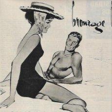 Coleccionismo: AÑO 1961 RECORTE PRENSA PUBLICIDAD SEA SKI BRONCEADOR BEIGE CREMA ANTISOLAR PLAYA. Lote 194915551