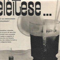 Coleccionismo: AÑO 1961 RECORTE PRENSA PUBLICIDAD NESCAFE HELADO BEBIDAS REFRESCOS. Lote 194915936