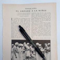 Coleccionismo: CUESTIONES SOCIALES. EL AMPARO A LA NIÑEZ. 1931. Lote 194930132