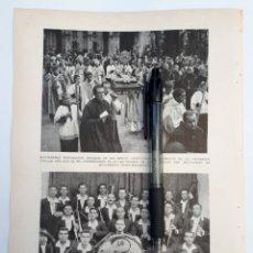 Coleccionismo: MONSERRAT. LA RELIQUIA DE SAN BENITO / ALCAZAR DE SAN JUAN (CIUDAD REAL) LA ECLECTICA DE MURCIA.1931. Lote 194930417