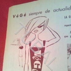 Coleccionismo: TUBAL VÉGÉ PUBLICIDAD 100% ORIGINAL B50. Lote 194945586