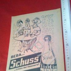 Coleccionismo: TUBAL SCHUSS SCHUSSINA PUBLICIDAD 100% ORIGINAL B50. Lote 194945641