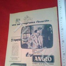 Coleccionismo: TUBAL TV ANGLO PUBLICIDAD 100% ORIGINAL B50. Lote 194945748