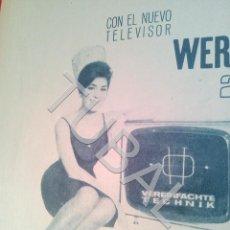 Coleccionismo: TUBAL TELEVISOR WERNER PUBLICIDAD 100% ORIGINAL B50. Lote 194945790