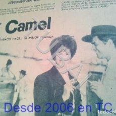 Coleccionismo: TUBAL CAMEL TABACO CIGARROS PUBLICIDAD 100% ORIGINAL B50. Lote 194945873