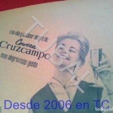 Coleccionismo: TUBAL CERVEZA CRUZCAMPO PUBLICIDAD 100% ORIGINAL B50. Lote 194945938