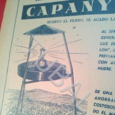 Coleccionismo: TUBAL CAPANYLON APARATO ANTIPLAGAS PUBLICIDAD 100% ORIGINAL B50. Lote 194946017