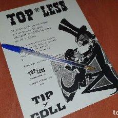 Coleccionismo: TIP Y COLL EN TOP - LESS, PADRE XIFRE 3, CARTELITO PUBLICITARIO, 22 X 17 CM.. Lote 194956735
