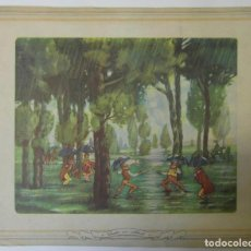 Coleccionismo: FERRÁNDIZ. LÁMINA MEDS: 30X36.5 CMS. DORSO SIN IMPRIMIR.. Lote 194957155