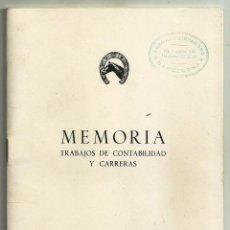 Coleccionismo: SOCIEDAD DE FOMENTO DE LA CRIA CABALLAR DE ESPAÑA. MEMORIA. CONTABILIDAD Y CARRERAS, 1964. Lote 194976248