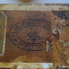 Coleccionismo: CAJA PUROS HABANOS - CUBA LA FLOR DE BENITO SUAREZ ( VACIA- COLECCN ) 1880 IMPERIO ESPAÑOL SELLADA. Lote 195011737