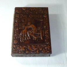 Coleccionismo: ANTIGUA CAJA TABAQUERA MUSICAL CON IMAGEN DE DON QUIJOTE. Lote 195027548