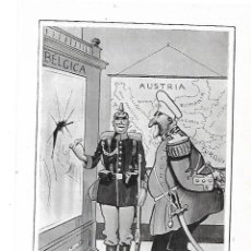 Coleccionismo: AÑO 1915 RECORTE PRENSA DIBUJO CARICATURA DE SILENO EL BULGARO INDECISO GUERRA BELGICA AUSTRIA. Lote 195042131