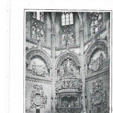 Coleccionismo: AÑO 1915 RECORTE PRENSA LAMINA FOTOGRAFIA LACOSTE CATEDRAL BURGOS CAPILLA DEL CONDESTABLE. Lote 195042292