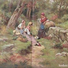Coleccionismo: AÑO 1915 RECORTE PRENSA PINTURA LAMINA DIBUJO REGIDOR DESCANSO DESPUES DE LA FAENA DEL CAMPO. Lote 195042486