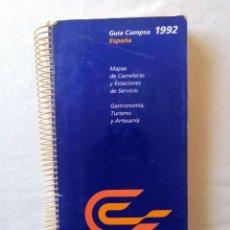 Coleccionismo: GUIA CAMPSA 1992 ESPAÑA MAPAS CARRETERAS Y ESTACIONES DE SERVICIO GASTRONOMIA, TURISMO Y ARTESANIA. Lote 195044646