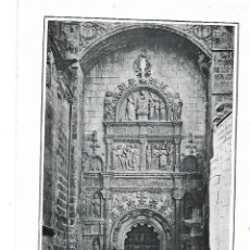 Coleccionismo: AÑO 1915 RECORTE PRENSA LAMINA FOTOGRAFIA LACOSTE CATEDRAL BURGOS PUERTA DE LA PELLEJERIA. Lote 195049585