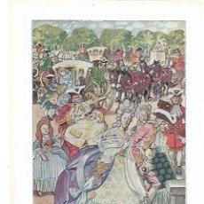 Coleccionismo: AÑO 1915 RECORTE PRENSA PINTURA LAMINA DIBUJO LLEGADA DE LOS INVITADOS CARICATURA DE TITO. Lote 195049667