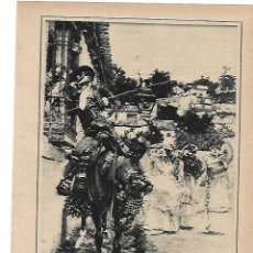 Coleccionismo: AÑO 1915 RECORTE PRENSA PINTURA DIBUJO PELANDO LA PAVA POR JOSE GARCIA RAMOS. Lote 195050456