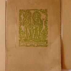 Coleccionismo: PR-1711. SANTAS JULIANA Y SEMPRONIANA. PATRONAS DE LA CIUDAD DE MATARÓ. LAMINAS ORIGINALES.AÑO 1958. Lote 195056475