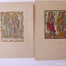 Coleccionismo: PR-1712.SANTAS JULIANA Y SEMPRONIANA. PATRONAS DE LA CIUDAD DE MATARÓ. 2 LAMINAS ORIGINALES.AÑO 1958. Lote 195056683